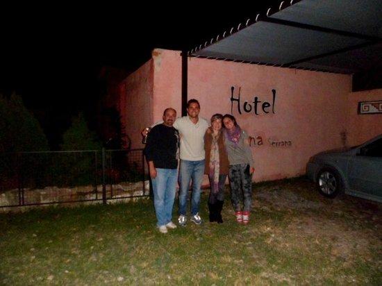 Hotel Luna serrana: Con nuestros amigos