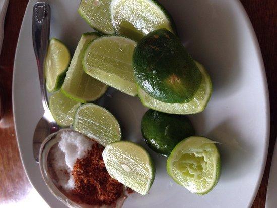 Muelle3 : Salt, Limes and my kids favorite Tajin!!!