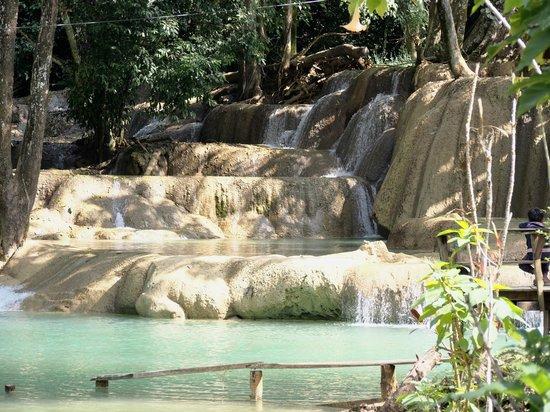 Tad Sae Waterfall : Falls in January