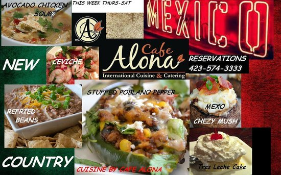 Cafe Alona: international cuisine April 10th - 12th dinner