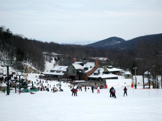 Whitetail Mountain Resort: View of mountain base from mid height