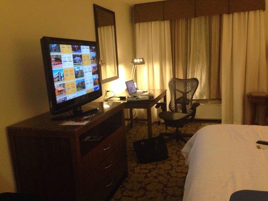 Hilton Garden Inn - Orlando North/Lake Mary: TV and desk