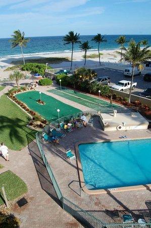 Native Sun Resort: Blick vom Balkon eines zimmers in der 4. Etage