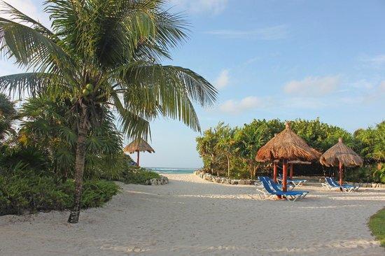 Grand Bahia Principe Tulum : Walkway leading out to beach