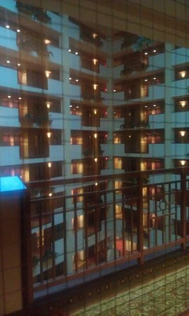 Embassy Suites Huntsville by Hilton Hotel & Spa : View of atrium from room