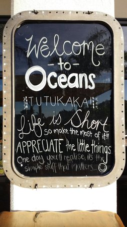 Quality Hotel Oceans Tutukaka: Cool board