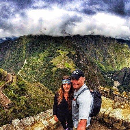 Machu Picchu: Near the top of Huayna Picchu!