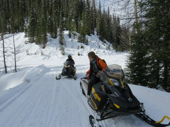 Swan Mountain Snowmobiling: On the trails