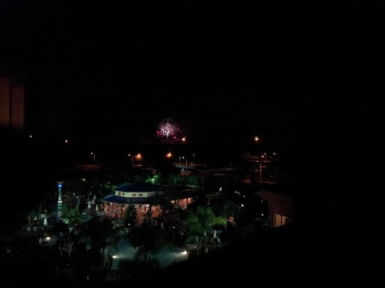 Hilton Orlando : Fireworks during 4th of July