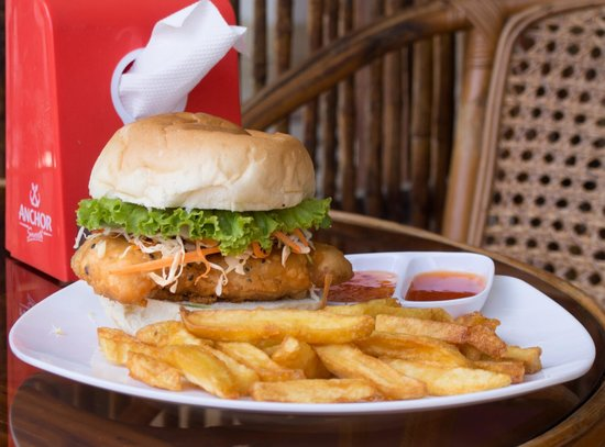 The Purple Midget Bar: Fish Burger