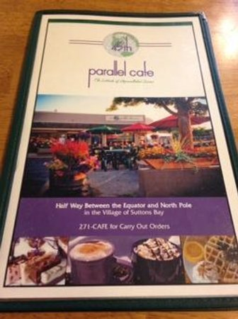 45th Parallel Cafe: Menu