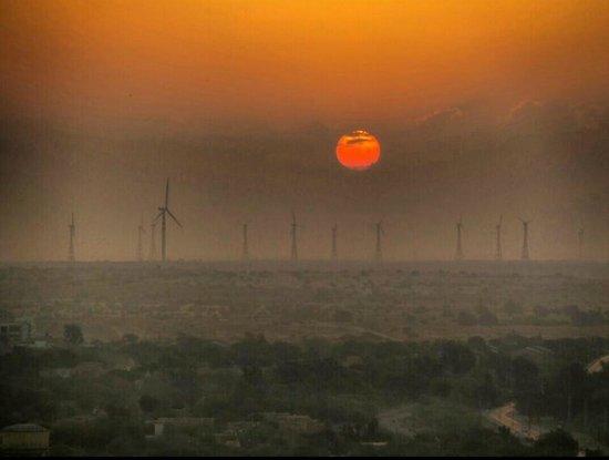 Hotel Garh Jaisal Haveli : Sunrise on rooftop