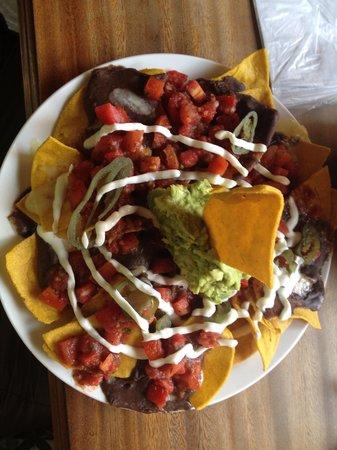 Rainbow Cafe: Their massive veggie nachos dish