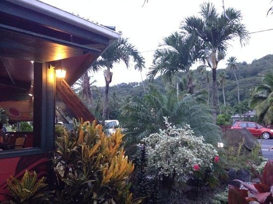 Kikau Hut Restaurant: Aussicht von meinem Platz
