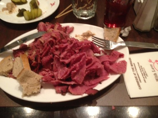 Carnegie Deli at the Mirage : Just one half of the huge Woody Allen! Very yummy though.