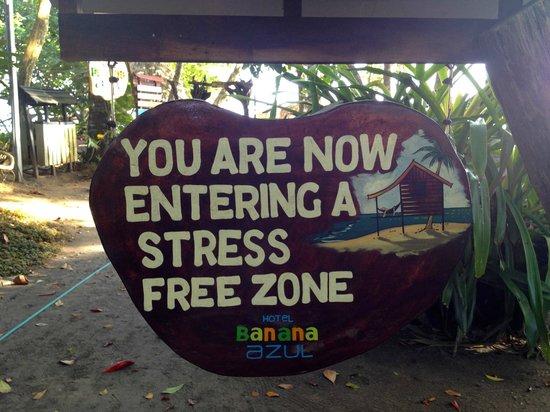 Hotel Banana Azul: This sign describes the whole property