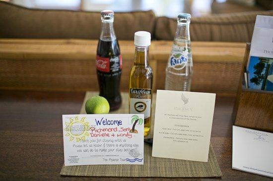 The Phoenix Resort : Welcome goodies