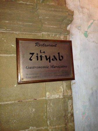 Le Ziryab : Entry