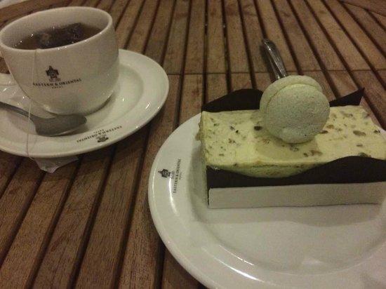Eastern & Oriental Hotel: Pistachio slice from Sarkies Corner