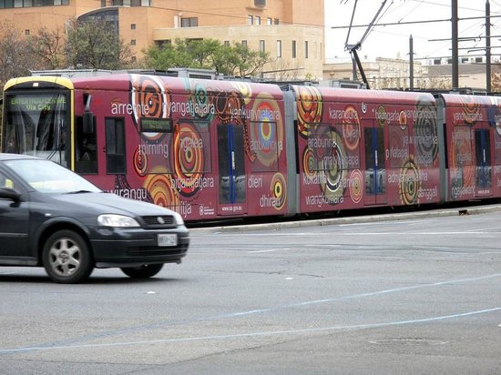 Quest on King William: Those neat trams in Adelaide