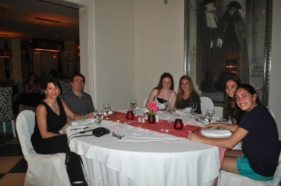 Dreams Palm Beach Punta Cana: Dinner at the Italian Restaurant.