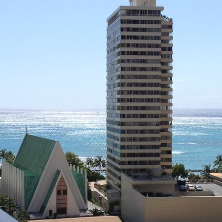 Aston at the Waikiki Banyan: Nice view from our room in Tower 1