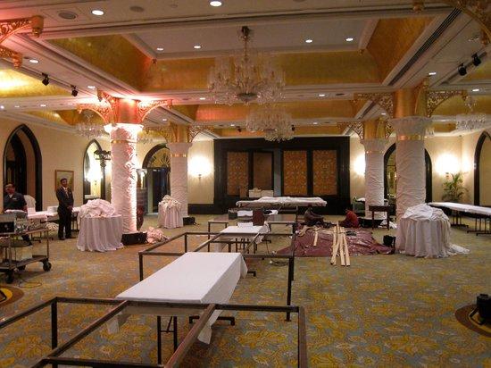 The Taj Mahal Palace, Mumbai: Event's room getting ready for the New Year's Ball.
