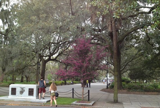 Savannah Historic District : Entrance to Forsyth Park