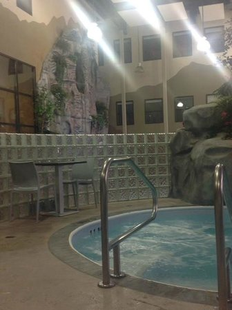 View from the mineral pool, Urban Oasis Mineral Spa  |  1445 Portage Avenue, Winnipeg, Manitoba