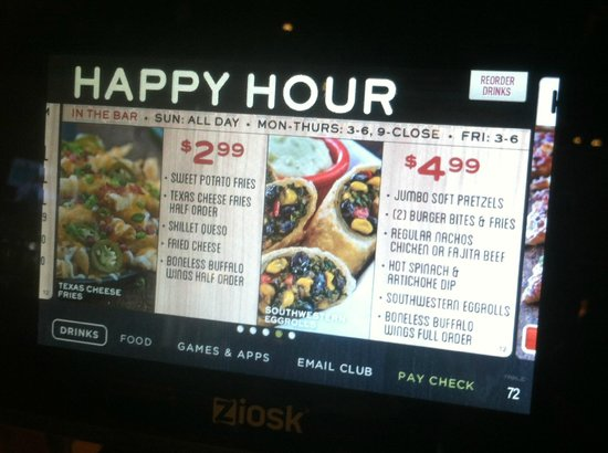 Chandler, AZ: Happy Hour appetizer specials!