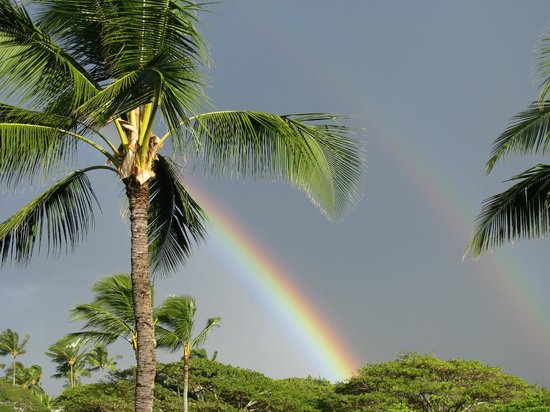 Sheraton Kauai Resort: Awesome rainbow we saw from our lanai!