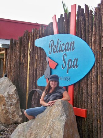 Pelican Spa: A picture of the name so we remembered for booking next time