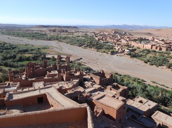 Casbah d'Aït-ben-Haddou : 上からみた景色