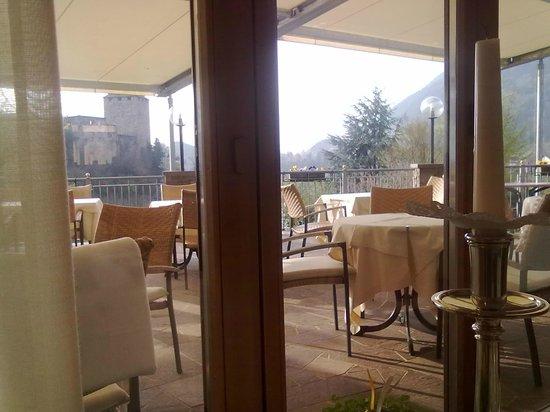 Hotel Der Waldhof: sala ristorante-terrazza