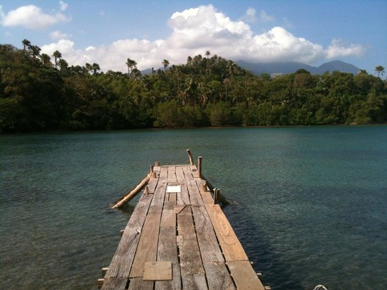 Kalaw's Place : the dock were you can use banka, hakay. u can swim too