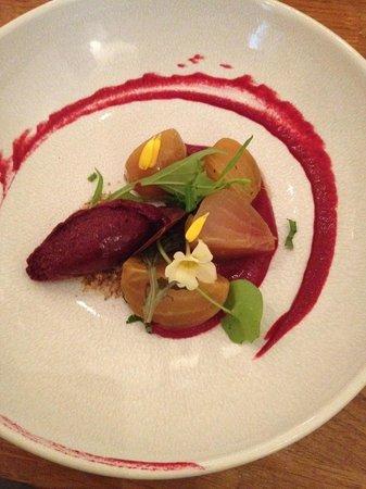 Acorn Vegetarian Kitchen : Beetroot starter