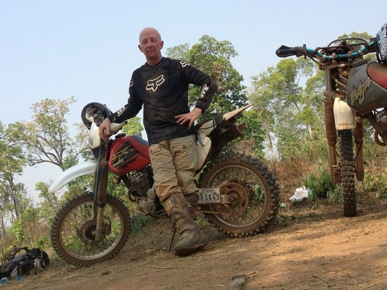 Cambodia Dirtbike Tours - Day Tours: Colm still smiling