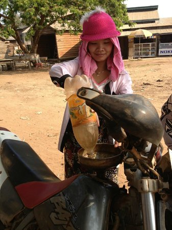 Cambodia Dirtbike Tours - Day Tours: Local fueling station