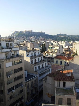 Athens Center Square : View of the Acropolis from hotel room
