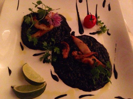 Pascal's Kitchen : Risotto au supions et a l'encre de seiche