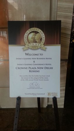 Crowne Plaza New Delhi Rohini: 2012 Winner