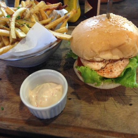 Habitual Quench & Feed: Chicken burger and fries