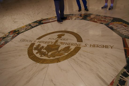Founder's Hall at the Milton Hershey School: Seal on floor