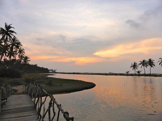 Kitesurfing Lanka: Dämmerung Lagune