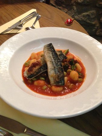 The Mill Race: Pan Fried Mackerel  with Gnocchi for main