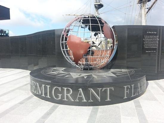 Dunbrody Famine Ship Experience: eternal flame new ross