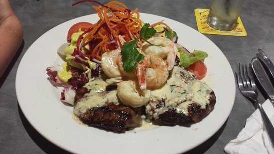 Cooktown Bowls Club: Scotch Fillet Reef & Beef $37 - worth every mouthful!