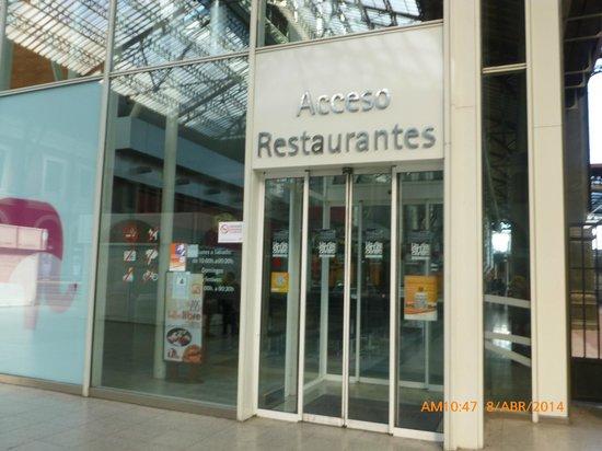Principe Pio Mall : Acceso a Restaurantes.