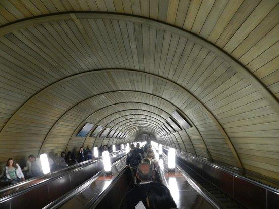Novotel Moscow Centre : Metro de Moscú(espectacular)