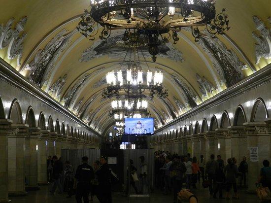 Novotel Moscow Centre: Metro de Moscú(espectacular)